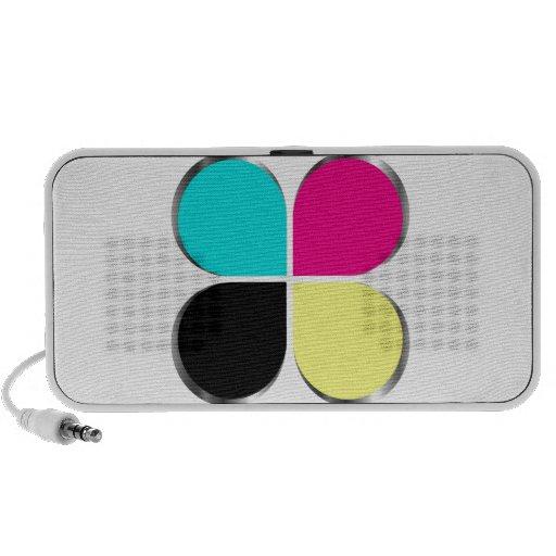 CMYK leaf graphic Travel Speaker