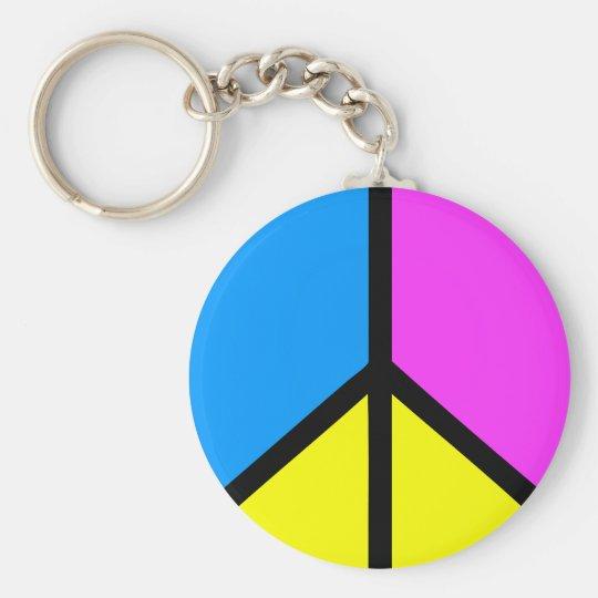 CMYK Peace Sign Keychain