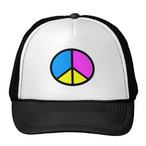 CMYK Peace Sign Trucker Hat