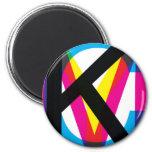 CMYK pile 2 Inch Round Magnet