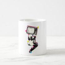 pin up, vintage, pop art, retro, cmyk, 60s, movie, funny, offensive, graffiti, cyan, magenta, yellow, old school, illustration, urban, graphic, mug, Mug with custom graphic design