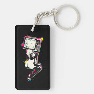 Cmyk pin-up keychain