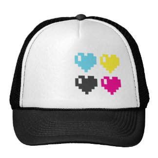 CMYK Pixel Hearts cap Trucker Hat