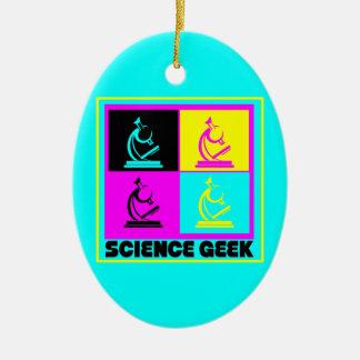 CMYK pop art microscope science geek design Ornament