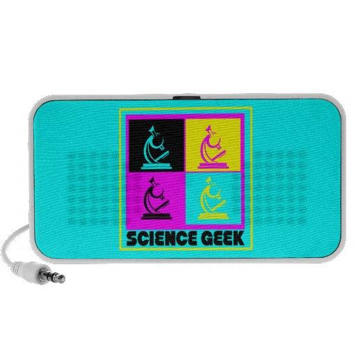 CMYK pop art microscope science geek design Mini Speakers