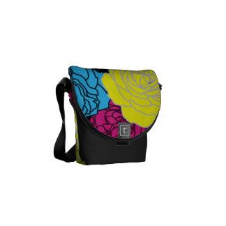 CMYK Pop Art  Roses Rickshaw Messenger Bag