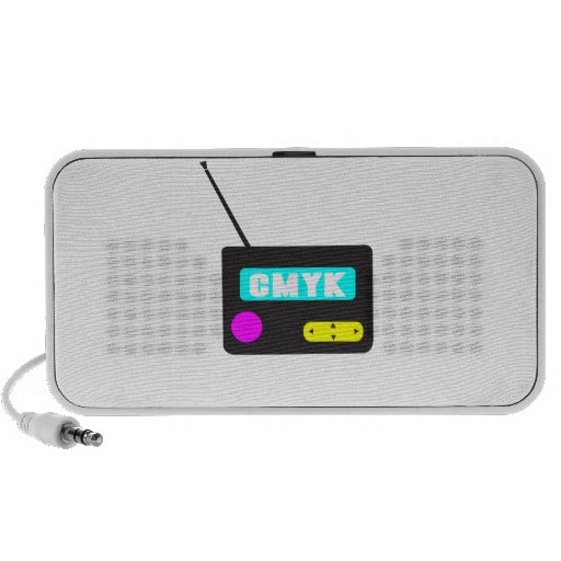 CMYK portable retro radio Laptop Speaker