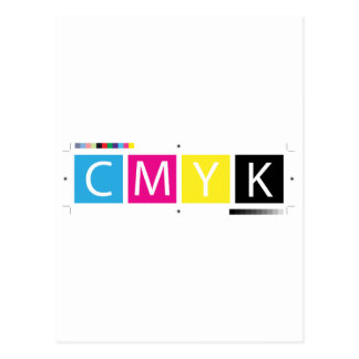 CMYK Pre-Press Colors Postcard