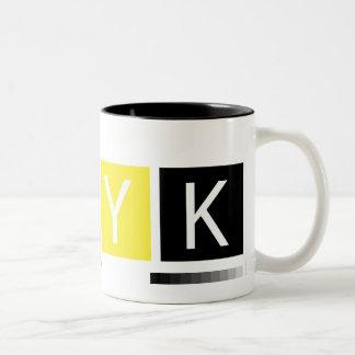 CMYK Pre-Press Colors Two-Tone Coffee Mug
