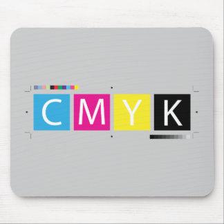 CMYK preprensan colores Tapete De Raton