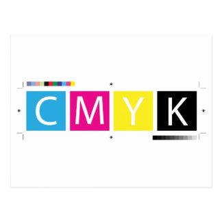 CMYK preprensan colores Postal