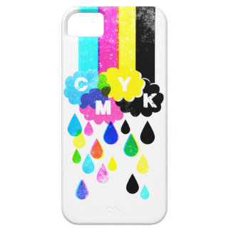 CMYK - Rainbows and Raindrops iPhone SE/5/5s Case