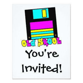 CMYK retro floppy disk old skool design 4.25x5.5 Paper Invitation Card
