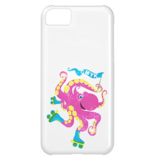 CMYK - Rollerskating Octopus Case For iPhone 5C