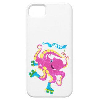 CMYK - Rollerskating Octopus iPhone SE/5/5s Case