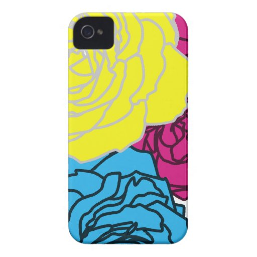CMYK ROSES iPhone 4 Case-Mate CASES