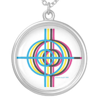 CMYK ROUND PENDANT NECKLACE
