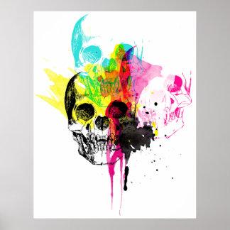 CMYK Skull Print