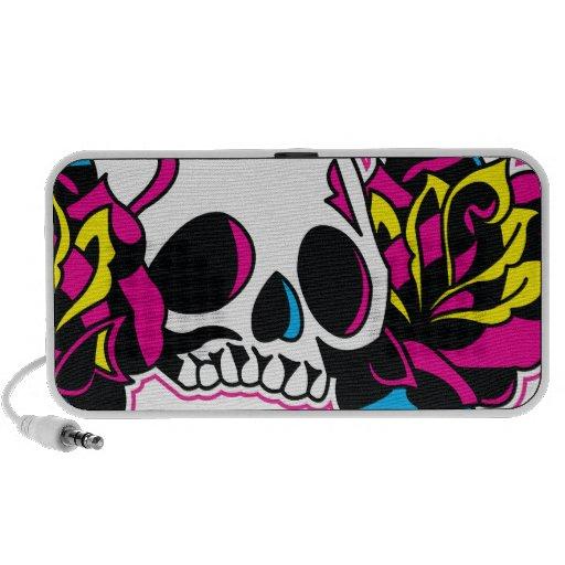 cmyk skull iPod speaker