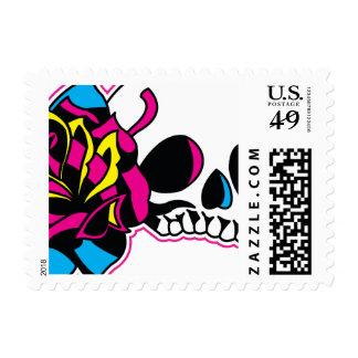 cmyk skull stamp