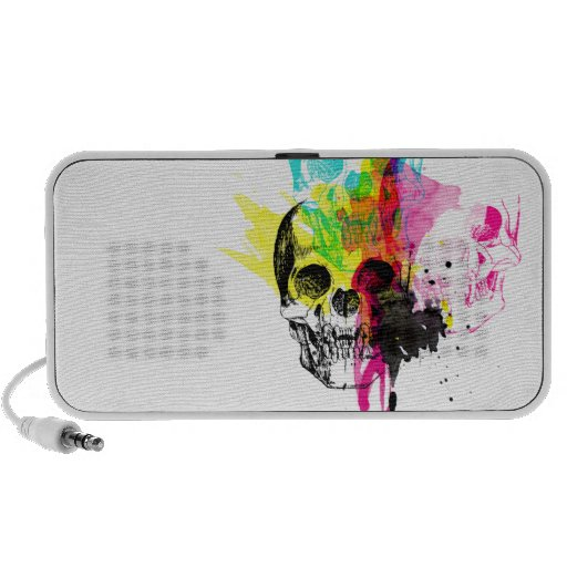 CMYK Skulls Doodle Speaker
