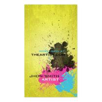 splash, cmyk, designer, artist, creative, graphic designer, modern, pop, urban, sleek, trendy, vivid, colorful, vibrant, young, Business Card with custom graphic design