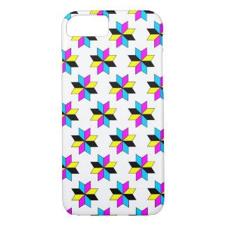 CMYK Stars Pattern iPhone 7 Case