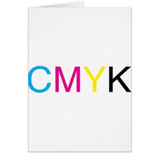 CMYK Text Card