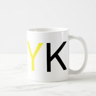 CMYK Text Classic White Coffee Mug