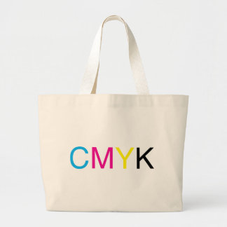 CMYK Text Large Tote Bag