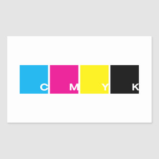 CMYK: The essential four in a row, stickers