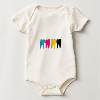 CMYK tooth Baby Bodysuit