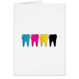 CMYK tooth Card