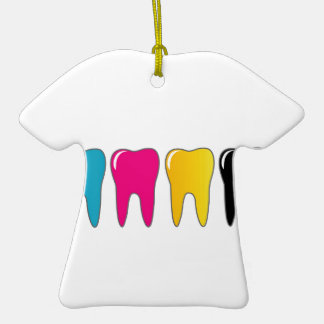 CMYK tooth Christmas Tree Ornaments
