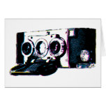 CMYK Vintage Camera Picture Pop Art Greeting Card