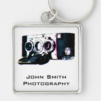 CMYK Vintage Camera Picture Pop Art Keychain