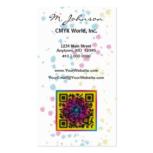 CMYK. Without it, the world would be ... Business Cards