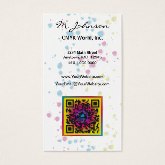 CMYK. Without it, the world would be ... Business Card