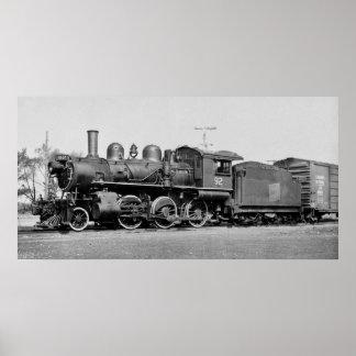 CN railroad Engine #92 Port Dover Ontario Vintage Poster