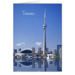 CN Tower and buildings in Toronto, Ontario, Canada Greeting Card
