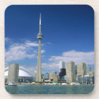 CN Tower and Skydome in Toronto, Ontario, Beverage Coaster