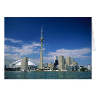 CN Tower and Skydome in Toronto, Ontario, Greeting Card