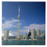 CN Tower and Skydome in Toronto, Ontario, Ceramic Tile
