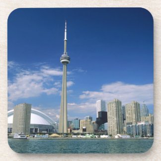 CN Tower and Skydome in Toronto, Ontario, Beverage Coasters