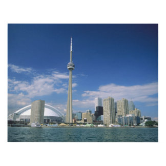 CN Tower and Skydome in Toronto, Ontario Wood Wall Art