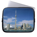 CN Tower and Skydome in Toronto, Ontario, Laptop Computer Sleeves