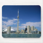 CN Tower and Skydome in Toronto, Ontario, Mouse Pad