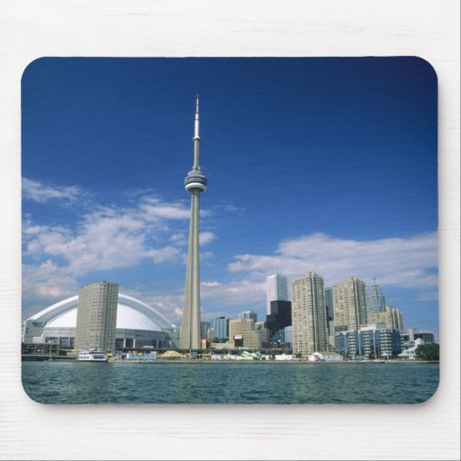 CN Tower and Skydome in Toronto, Ontario, Mousepad