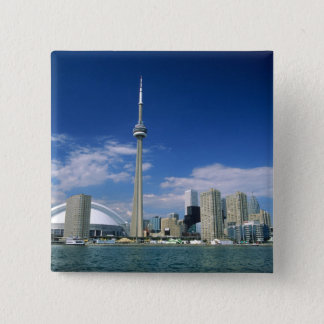 CN Tower and Skydome in Toronto, Ontario, Pinback Button