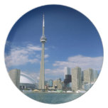 CN Tower and Skydome in Toronto, Ontario, Plate